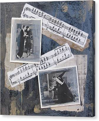 Fred And Ginger Collage Canvas Print by Anita Burgermeister