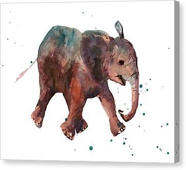 Freddie Funtime Elephant Canvas Print