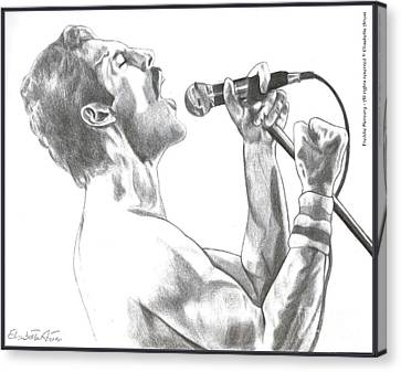 Musica Canvas Print - Freddie Mercury by Betta Artusi