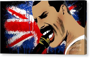 Freddie Mercury Canvas Print by Mark Ashkenazi