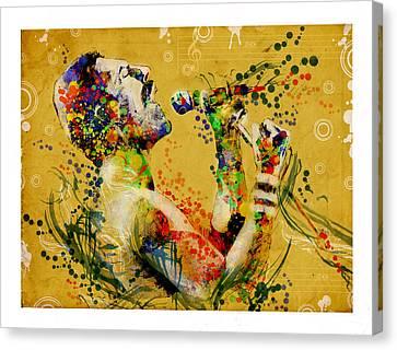 Freddie Mercury Vintage 2 Canvas Print