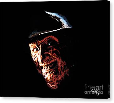 Freddy Kruger Canvas Print by Horacio Chaverri
