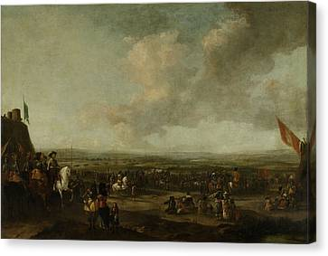 Frederick Henry At The Surrender Of Maastricht Canvas Print by Litz Collection