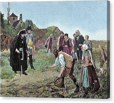 Frederick The Great (1712-1786 Canvas Print by Prisma Archivo
