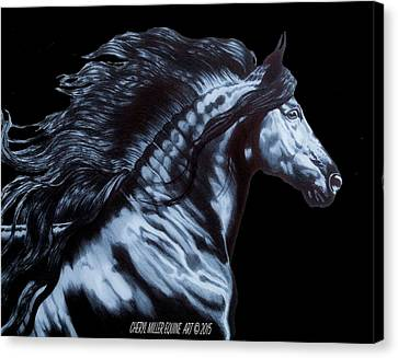 Friesian Horse Canvas Print - Frederik The Great by Cheryl Poland
