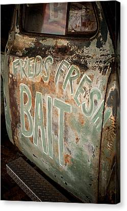 Freds Fresh Bait Canvas Print by Paul Bartoszek