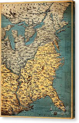 Free And Slave States Of America, C Canvas Print by Wellcome Images