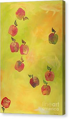 Free Apples Canvas Print by PainterArtist FIN