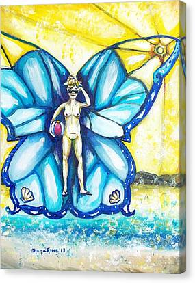 Free As Summer Sun Canvas Print by Shana Rowe Jackson