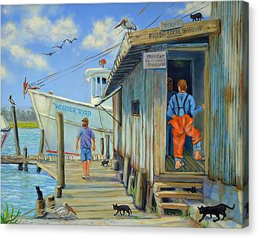 Canvas Print featuring the painting Free Cats Ll by Dwain Ray