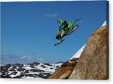 Downhill Canvas Print - Free Fall by Christian Otnes