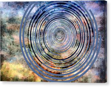 Free From Space And Time Canvas Print by Angelina Vick