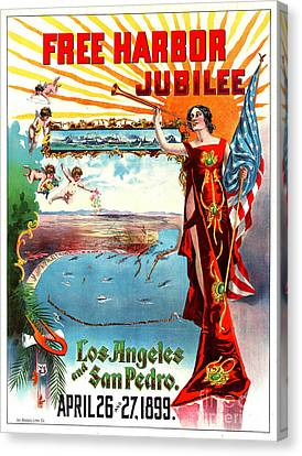 Free Harbor Jubilee 1899 Canvas Print by Padre Art
