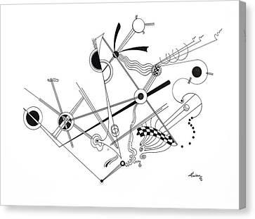 Free Lines 1 Canvas Print