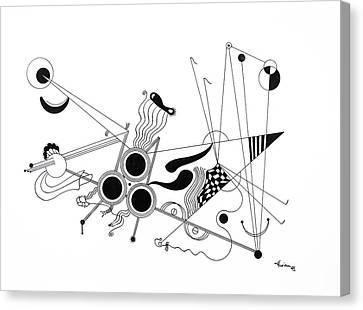Free Lines 2 Canvas Print