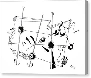 Free Lines 3 Canvas Print
