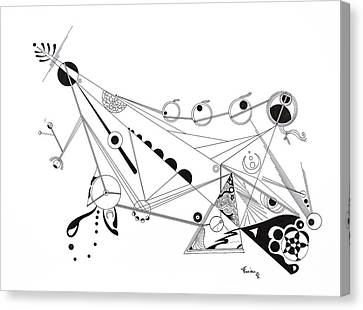 Free Lines 4 Canvas Print