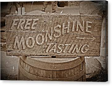 Free Moonshine Canvas Print