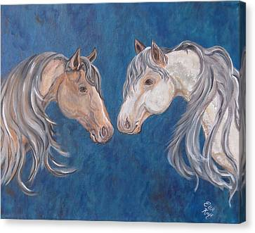 Canvas Print featuring the painting Free Spirits by Ella Kaye Dickey