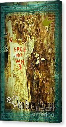 Free The West Memphis 3 Canvas Print by Joshua Brown