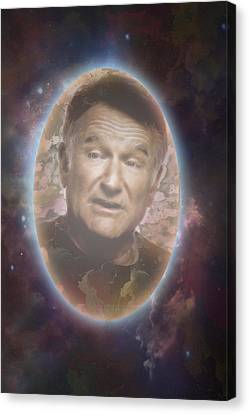 Free To Fly Tribute To Robin Williams Digital Artwork Canvas Print
