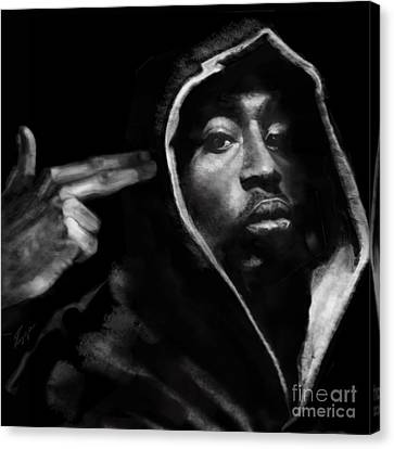 Free Will - 2 Pac Canvas Print by Reggie Duffie