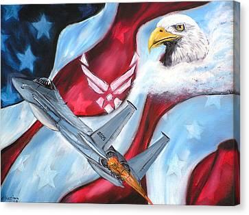Freedom Eagles Canvas Print by Dan Harshman