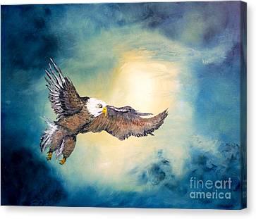 Freedom Flyer Canvas Print by Ayasha Loya