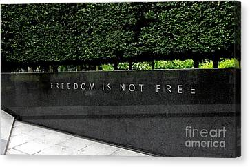 Freedom Is Not Free Canvas Print by Allen Beatty