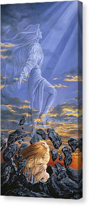 Spiritual Being Canvas Print - Freedom by Lucie Bilodeau