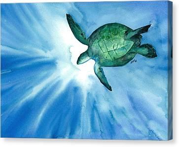 Sea Tutrle 2 Canvas Print
