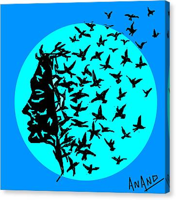 Freedom Of Thought Canvas Print by Anand Swaroop Manchiraju