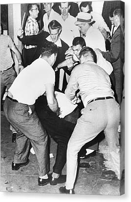Freedom Rider Beaten Canvas Print by Underwood Archives