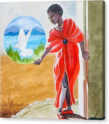 Freedom Rising Canvas Print by Kathryn Donatelli