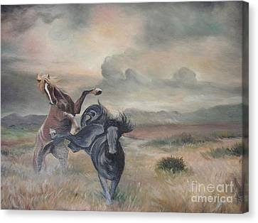 Canvas Print featuring the painting Freedom by Sorin Apostolescu