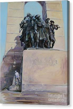 National War Memorial Ottawa Freedom The 24th Canvas Print by Christine Montague