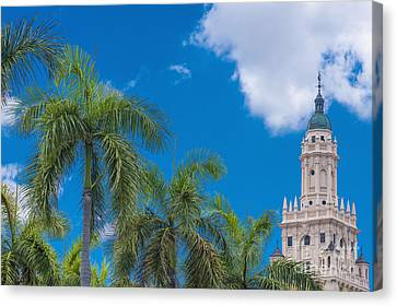 Freedom Tower At Miami Dade College Canvas Print by Andre Babiak