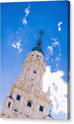 Freedom Tower Dade College Miami Canvas Print by Andre Babiak
