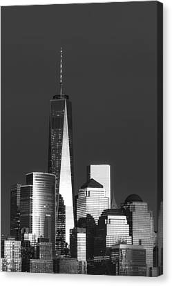 Architectural Canvas Print - Freedom Tower Glow II Bw by Susan Candelario