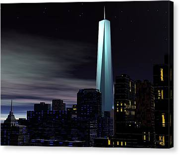 Freedom Tower Canvas Print by John Pangia