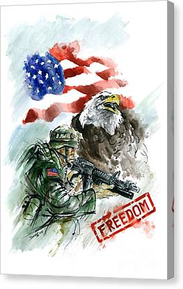 Freedom Usarmy Canvas Print