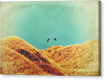 Freedom Vintage Canvas Print by Angela Doelling AD DESIGN Photo and PhotoArt