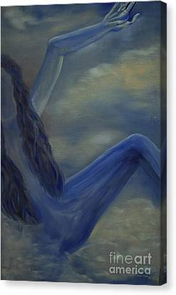 Canvas Print featuring the painting Freefall by Stuart Engel