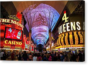 Freemont Street Experience - Downtown Las Vegas Canvas Print