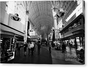 freemont street experience downtown Las Vegas Nevada USA Canvas Print