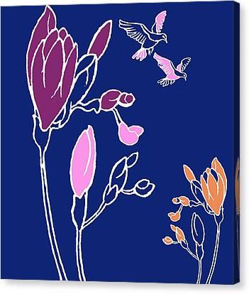 Freesia Canvas Print by Anna Platts
