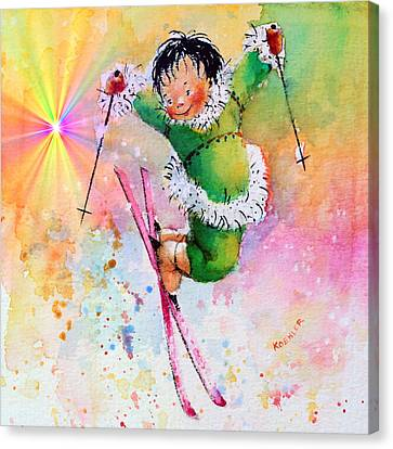Freestyle Smiles Canvas Print by Hanne Lore Koehler