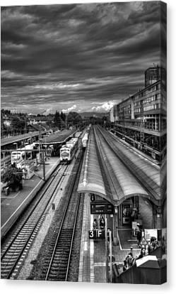 Freiburg Hauptbahnhof  Canvas Print by Carol Japp
