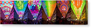 Fremont Street Experience Canvas Print by Amy Cicconi