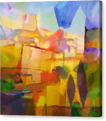 French Abstract Canvas Print by Lutz Baar